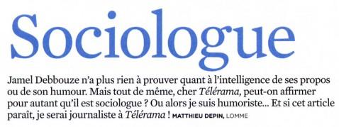 Courrier des lecteurs de Télérama (02/02/2011)