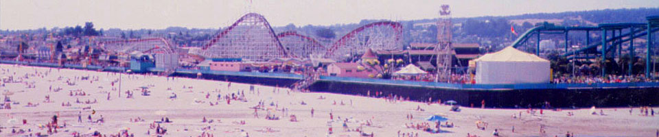 The Boardwalk / Santa Cruz, Californie, USA, juillet 1986