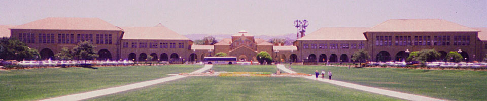 Stanford University / Palo Alto, Californie, USA, juillet 1986