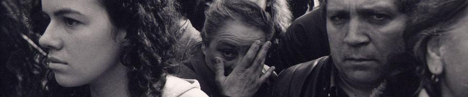 L'enterrement de Serge Gainsbourg / Cimetière du Montparnasse, Paris, France, 7 mars 1991