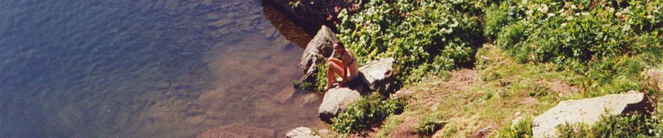 Lac noir de Pormenaz / Servoz, Haute-Savoie, France, août 1994