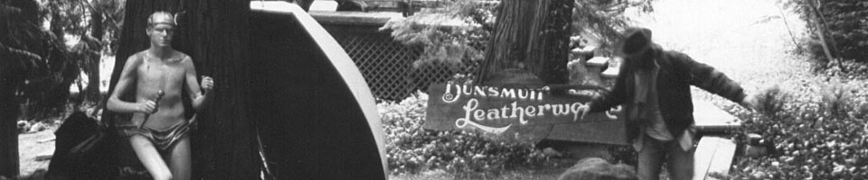 Dunsmuir Leatherworks / Mount Shasta, Californie, USA, mai 1995