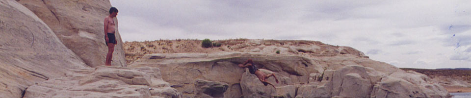 Upside Down / The Coves, Wahweap, Lake Powell, Arizona, USA, juin 1995