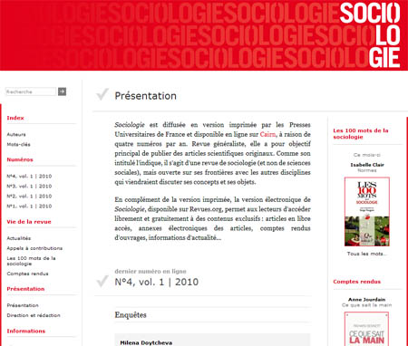 Sociologie, version électronique