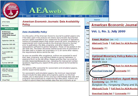 American Economic Journals Data Availability Policy