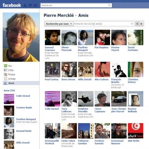 Page de Pierre Mercklé sur Facebook